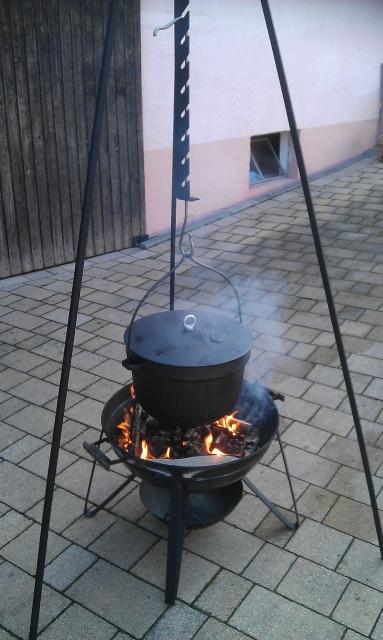 Plamen Guss-Kochkessel mit Deckel 20 Liter, ohne Dreibein
