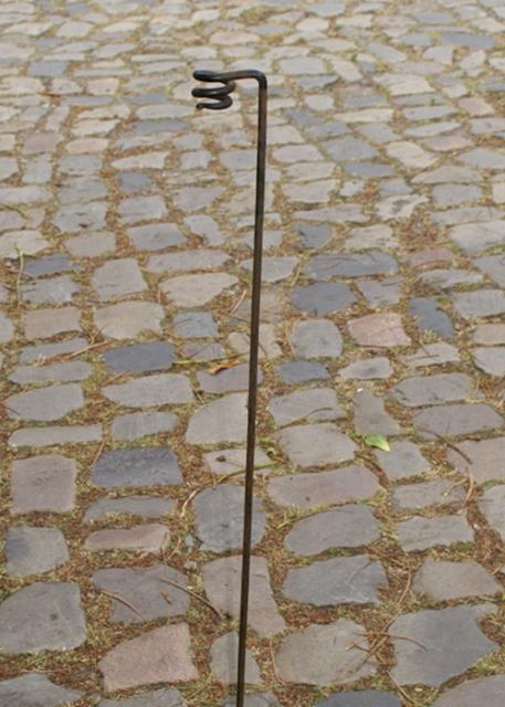 Fackelhalter aus Stahl, handgeschmiedet