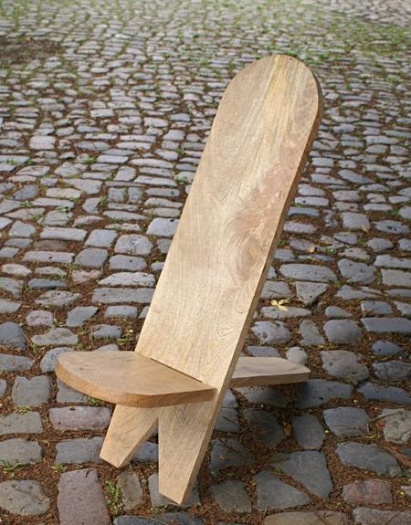 Steckstuhl aus massivem Hartholz