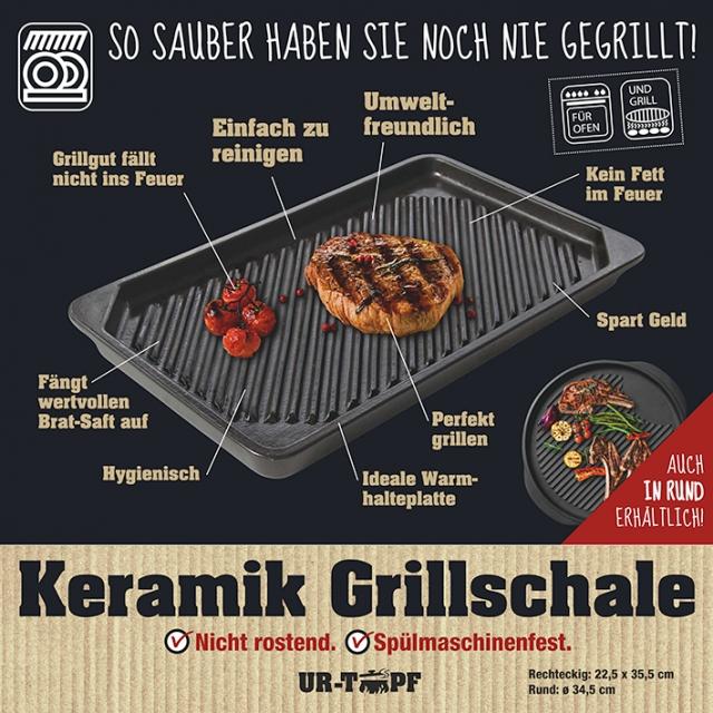 Keramik-Grillschale Rechteckig 36/22,5 cm