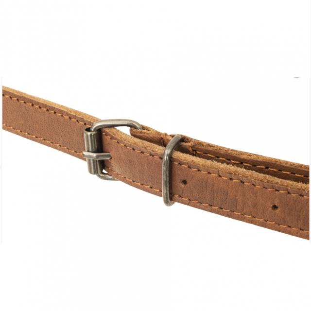 Büffelleder-Schürze mit gekreuztem Rückenband