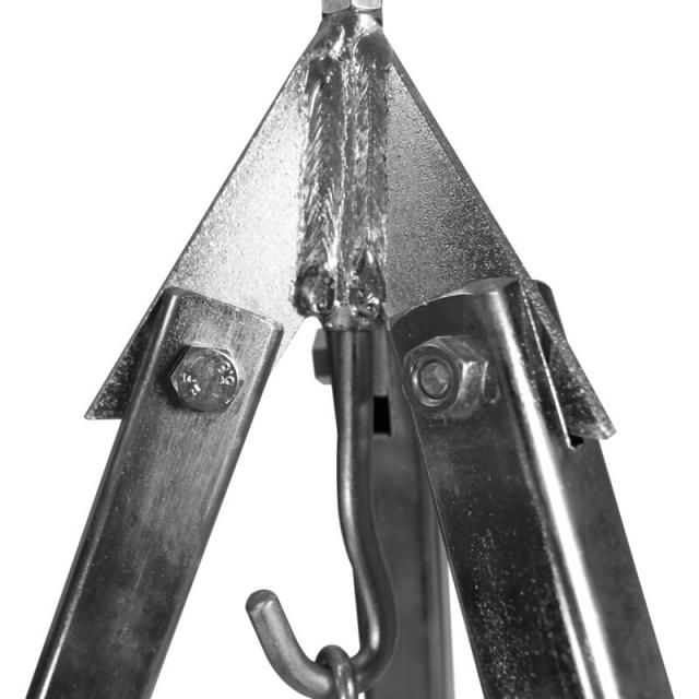 Dreibein mit Aufhängekette und Haken für Feuertöpfe und Gulaschkessel verzinkt 160 cm