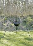Großes Dreibein, handgeschmiedet, ca. 155cm