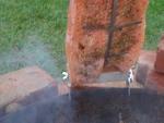Flammlachs-Brett mit verstellb. Edelstahlhalterung für Feuerschalen