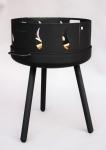 Feuerschale mit runden langen Beinen, und Feuer-Funkenschutz