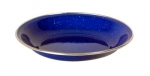 Emaille Teller - tief, 20 cm, blau
