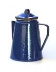 Emaille Kaffeekanne - 1,8 Liter, ca. 8 Tassen, blau