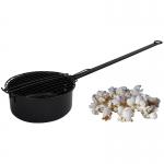 Popcorn Pfanne in sehr guter Qualität, stabile Ausführung.