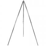 Extrem stabiles Dreibein mit Aufhängekette und Haken für schwere Gusskessel, Feuertöpfe und Gulaschkessel verzinkt 210 cm